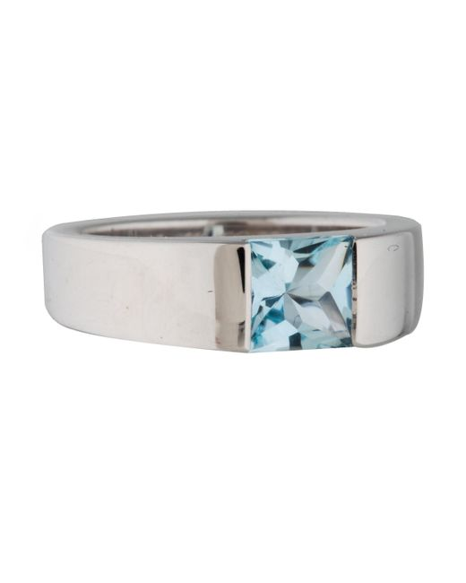 Cartier   Metallic Aquamarine Tank Ring White   Lyst