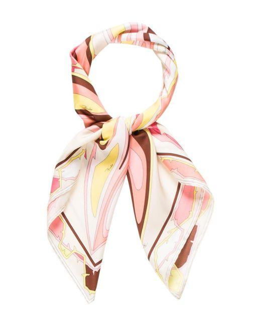 Emilio Pucci | Yellow Silk Printed Scarf Pink | Lyst