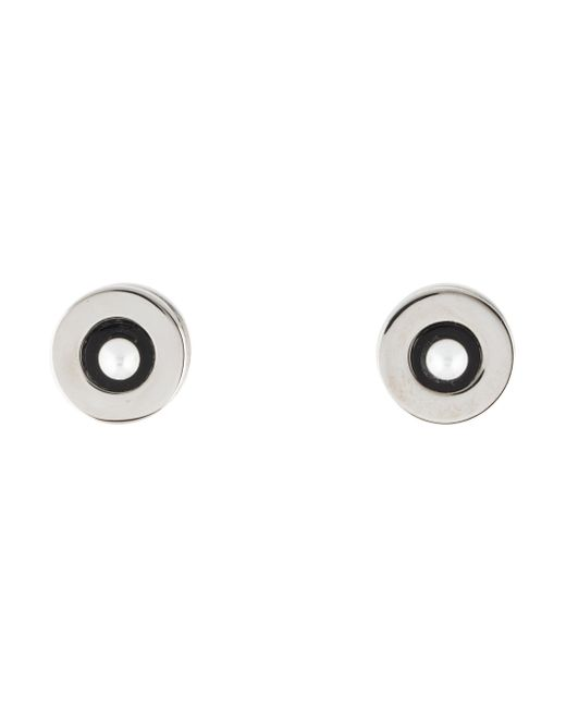 Givenchy | Metallic Magnetic Stud Earrings Silver | Lyst