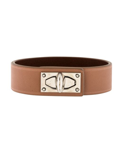 Givenchy | Metallic Shark Tooth Leather Bracelet Tan | Lyst