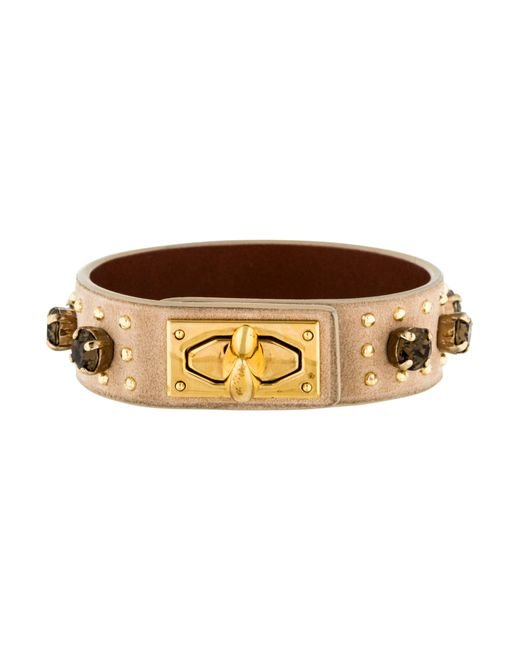 Givenchy | Metallic Crystal Studded Bracelet Gold | Lyst