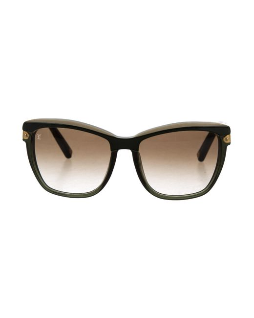 Louis Vuitton | Green Ambrosia Logo Sunglasses Olive | Lyst