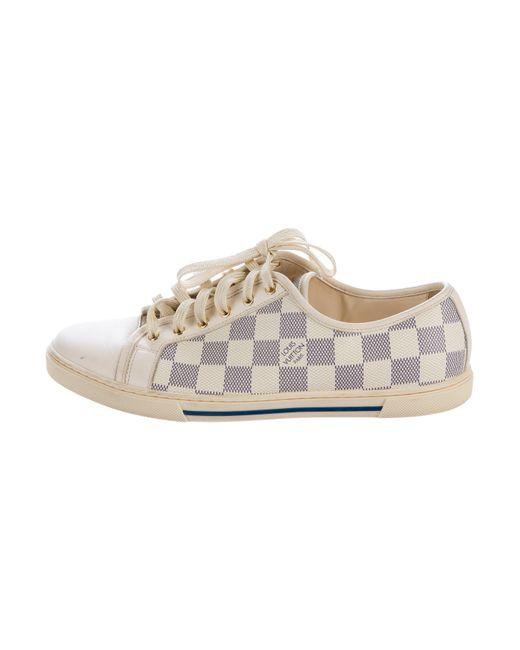 Louis Vuitton | Metallic Damier Azur Sneakers Navy | Lyst