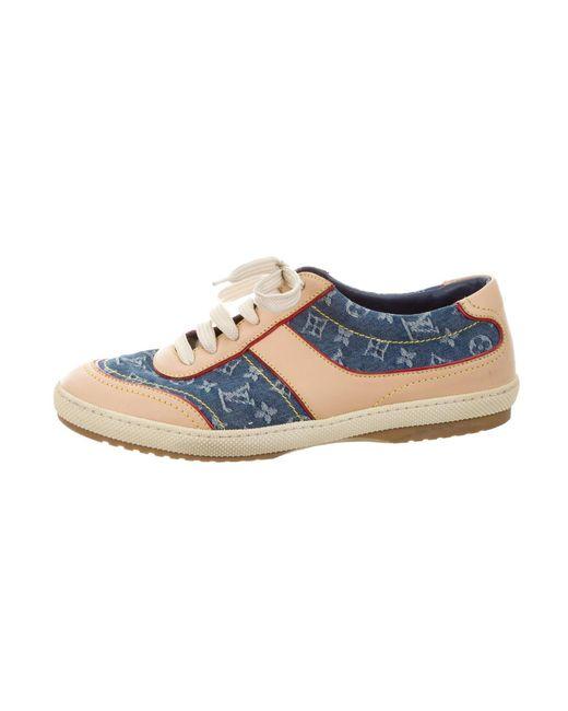 Louis Vuitton   Natural Monogram Idylle Low-top Sneakers Tan   Lyst