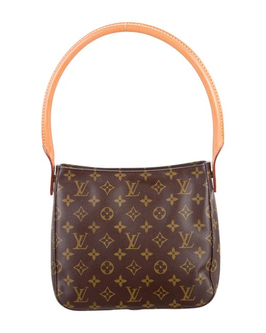Louis Vuitton | Natural Monogram Looping Mm Brown | Lyst