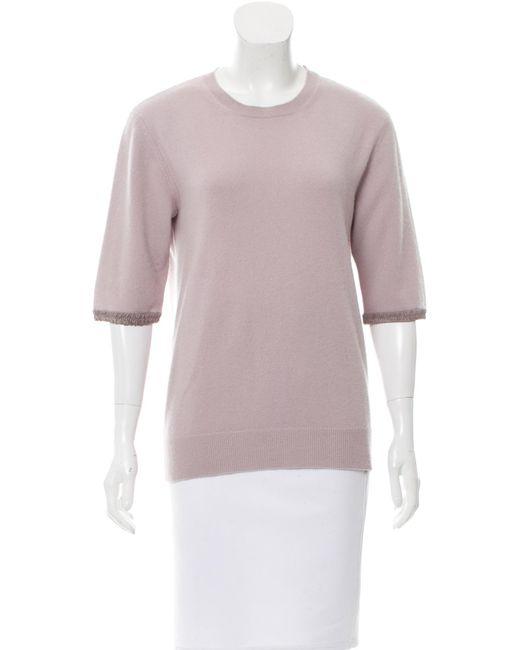 Marc Jacobs | Purple Short Sleeve Crew Neck Sweater | Lyst
