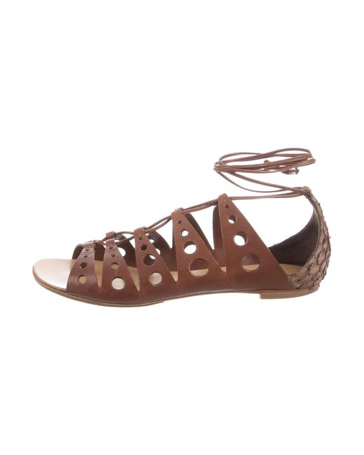 Proenza Schouler | Brown Leather Gladiator Sandals | Lyst