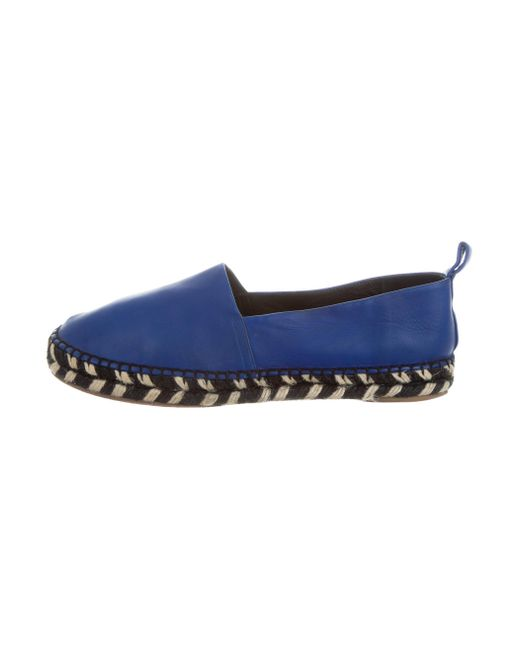 Proenza Schouler | Blue Leather Espadrille Flats | Lyst