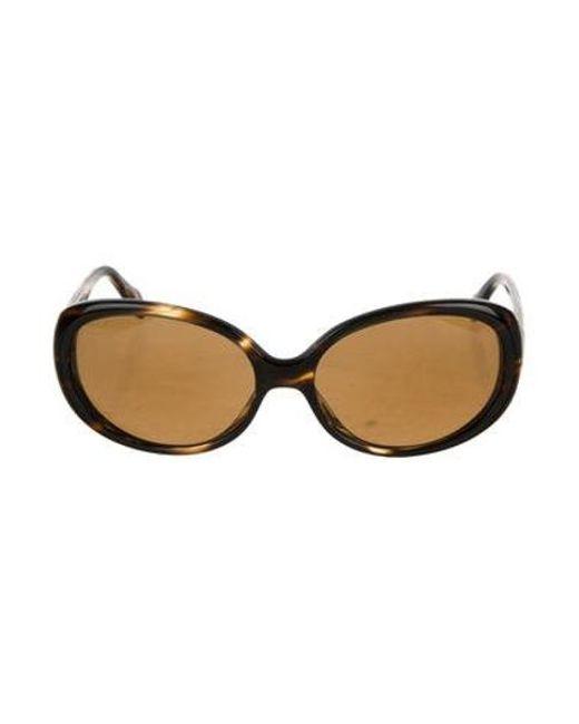 3e2a0eeb4f90 Oliver Peoples - Metallic Alyssia Tinted Sunglasses Black - Lyst ...