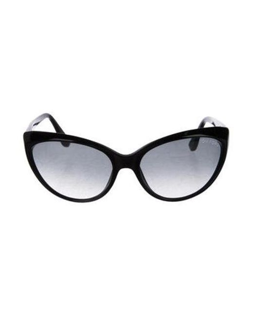 8537ae49a832 Tom Ford - Metallic Martina Cat-eye Sunglasses Black - Lyst ...