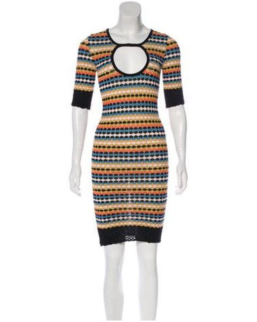 bc528daef44d M Missoni - Black Printed Knit Mini Dress - Lyst ...