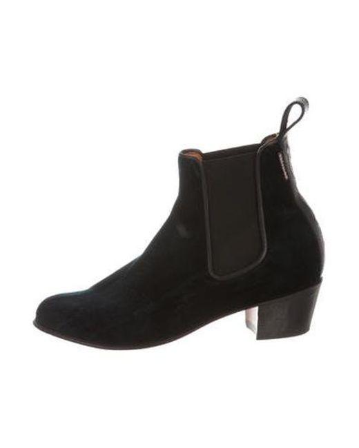 b11506d3d399 Penelope Chilvers - Green Velvet Chelsea Boots - Lyst ...