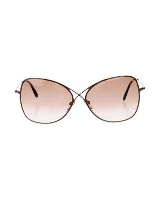 4a230c89b1c51 Tom Ford - Metallic Colette Gradient Sunglasses Gold - Lyst ...