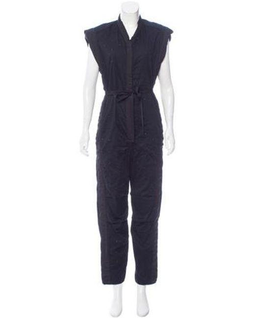 Isabel Marant - Black Embellished Straight-leg Jumpsuit - Lyst