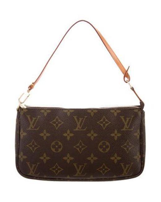 Louis Vuitton - Natural Monogram Pochette Accessoires Brown - Lyst ... a80918868b61f