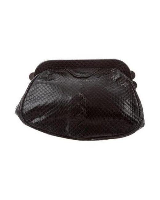 Bottega Veneta - Black Snakeskin Coin Pouch - Lyst ... aea117968c