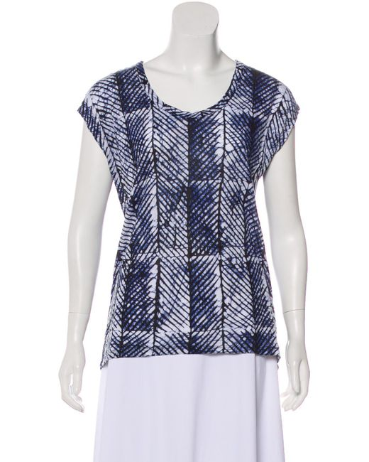 9f228adebb7b7 MICHAEL Michael Kors - Black Michael Kors Batik Bateau Neck T-shirt - Lyst  ...