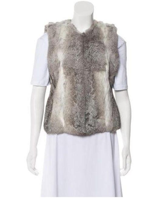 MICHAEL Michael Kors - Gray Michael Kors Fur Vest Grey - Lyst