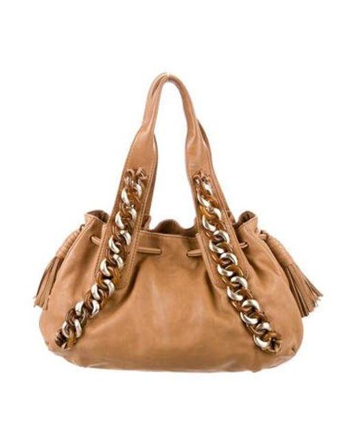 28ec5c00df52 Michael Kors - Metallic Leather Shoulder Bag Brown - Lyst ...