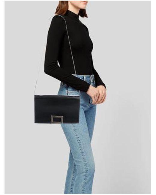 ... Roger Vivier - Metallic Leather Ines Bag Black - Lyst ... 7333c8d9aa2fa