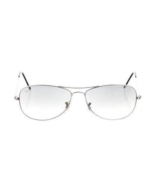 dad0ab41f7 Ray-Ban - Metallic Cockpit Aviator Sunglasses Silver - Lyst ...