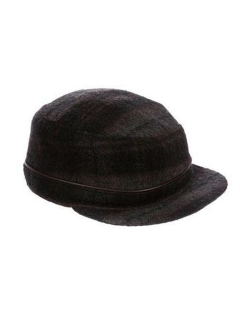 83def6baad9e2a Lyst - Eugenia Kim Wool-blend Plaid Hat Brown in Brown for Men