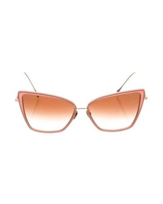 12b13aa3875 Dita - Pink Unbird Cat-eye Sunglasses - Lyst ...