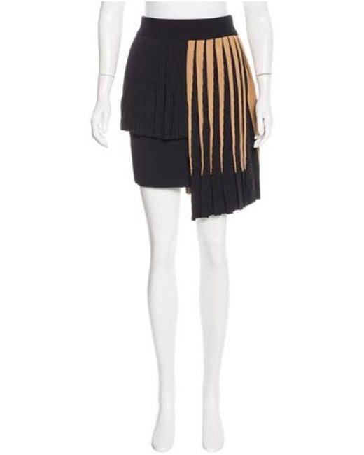Fausto Puglisi - Black Asymmetrical Knit Skirt W/ Tags - Lyst