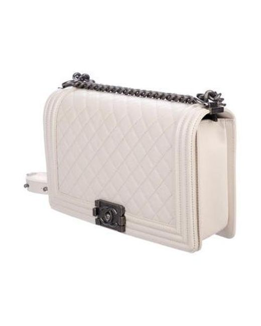 6624ca946db0 ... Chanel - Metallic 2017 Medium Plus Boy Bag Silver - Lyst ...