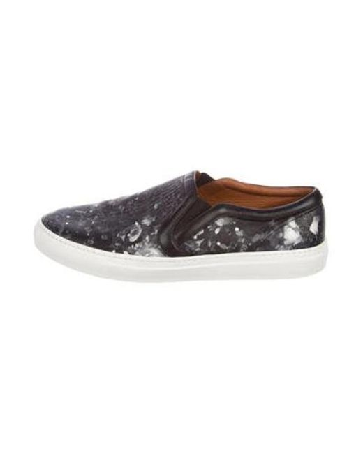 Givenchy - Gray Printed Leather Sneakers Black for Men - Lyst