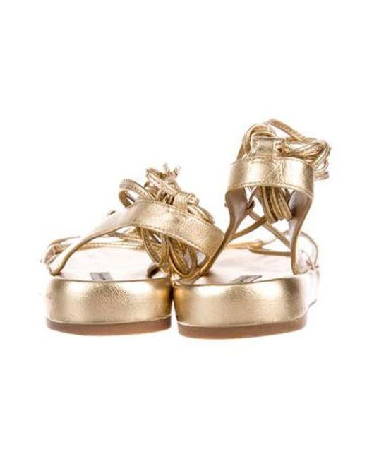 4cbed9413ebfa ... Diane von Furstenberg - Metallic Susie Sandals Gold - Lyst