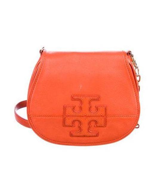 ab675f60bfb Tory Burch - Metallic Amanda Crossbody Bag Terracotta - Lyst ...