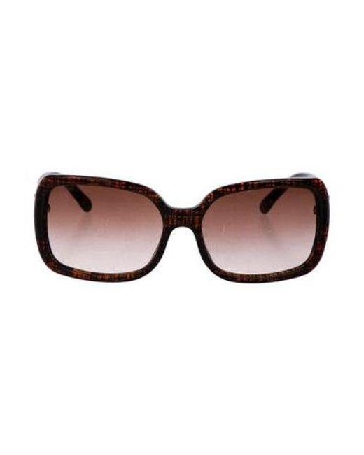 1f6fd7e0e8f Chanel - Metallic Cc Square Sunglasses Brown - Lyst ...