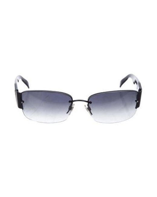 15030dcb495c3 Chanel - Black Strass Cc Sunglasses - Lyst ...