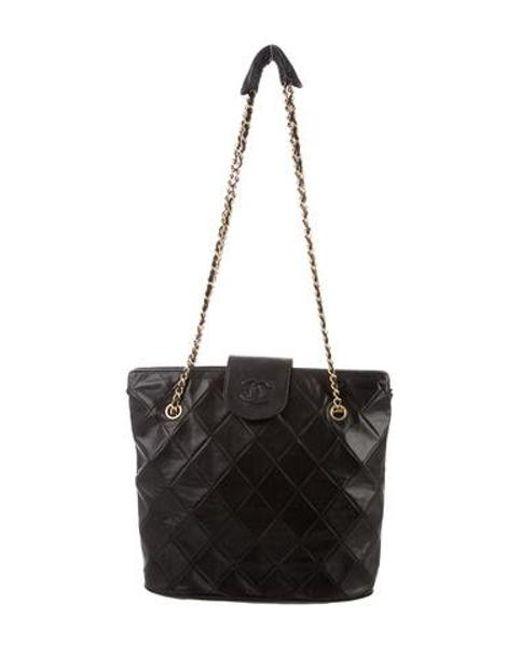 75ec9ffe7efd Chanel - Metallic Vintage Cc Lambskin Shoulder Bag Black - Lyst ...