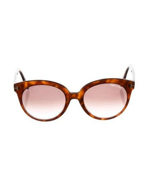 6543692aa58 Tom Ford - Metallic Monica Tortoiseshell Sunglasses Brown - Lyst ...