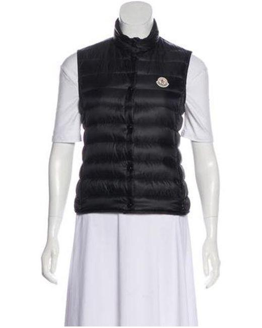 2bf9b7e28 Lyst - Moncler Liane Down Vest Black in Natural