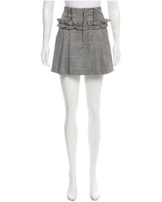 Marissa Webb - Black Herringbone Wool Skirt - Lyst