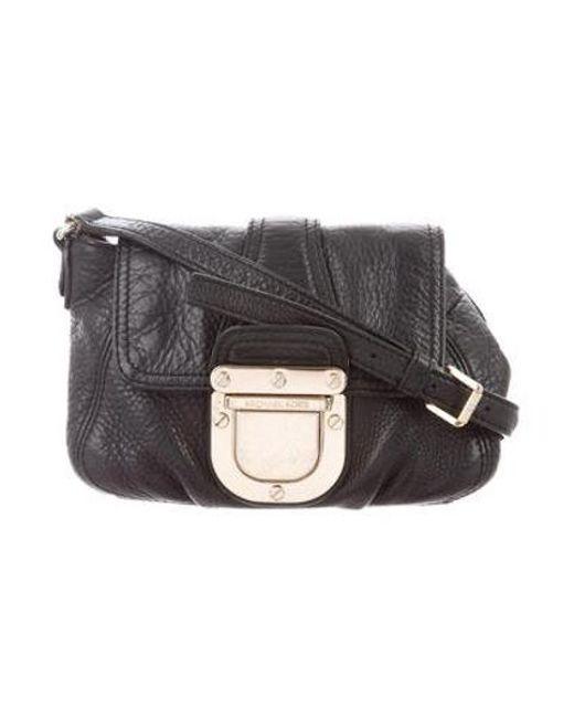 MICHAEL Michael Kors - Metallic Michael Kors Leather Crossbody Bag Black -  Lyst ... bcf84ef2d5