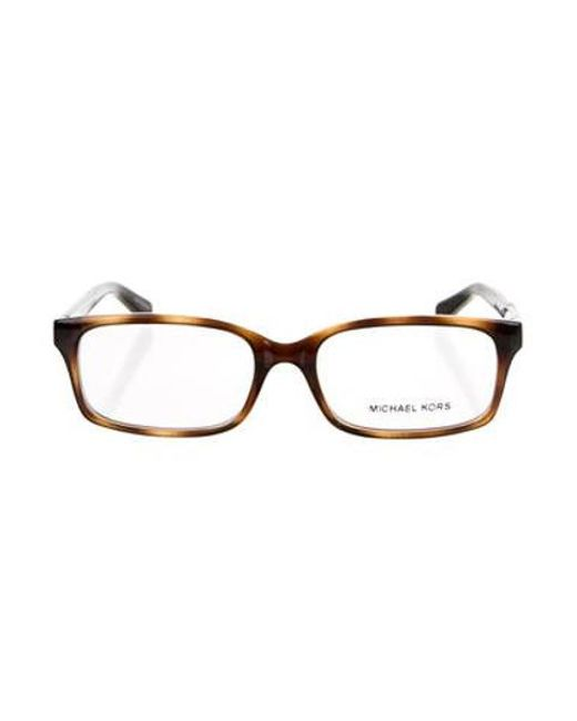 31381f9470 Michael Kors - Metallic Tortoise Square Eyeglasses Brown - Lyst ...