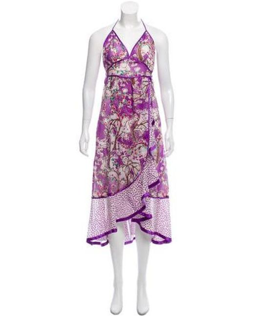 Marc Jacobs - Purple Printed Maxi Dress W/ Tags - Lyst