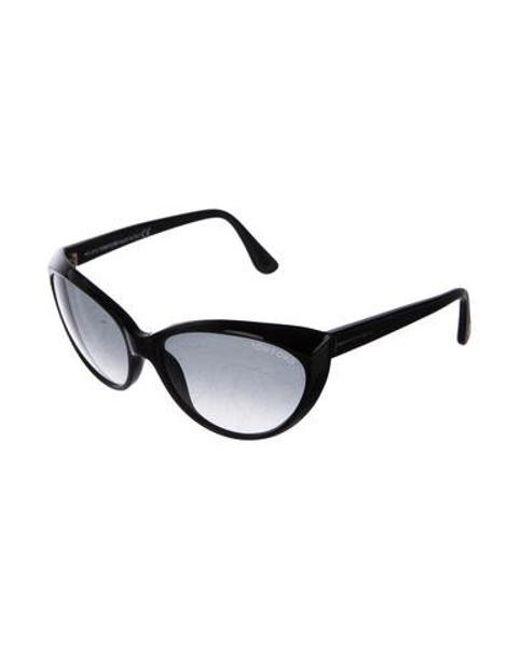 4927a6818a7d ... Tom Ford - Metallic Martina Cat-eye Sunglasses Black - Lyst ...