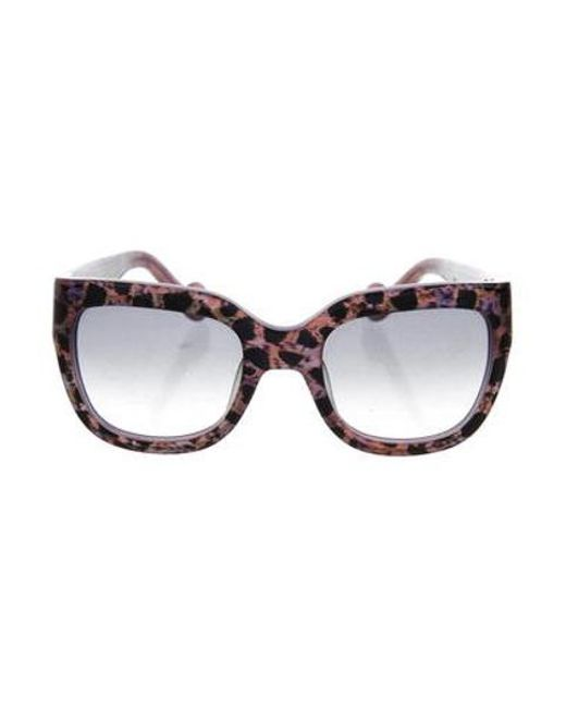 Anna Karin Karlsson - Black Marble Tinted Sunglasses - Lyst