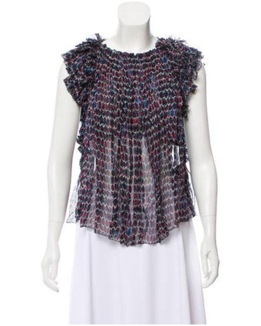 69fe8f2283346 Isabel Marant - Silk Printed Top W  Tags Multicolor - Lyst ...