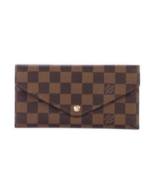 a47288b8b1a2 Louis Vuitton - Brown Damier Ebene Josephine Wallet - Lyst ...