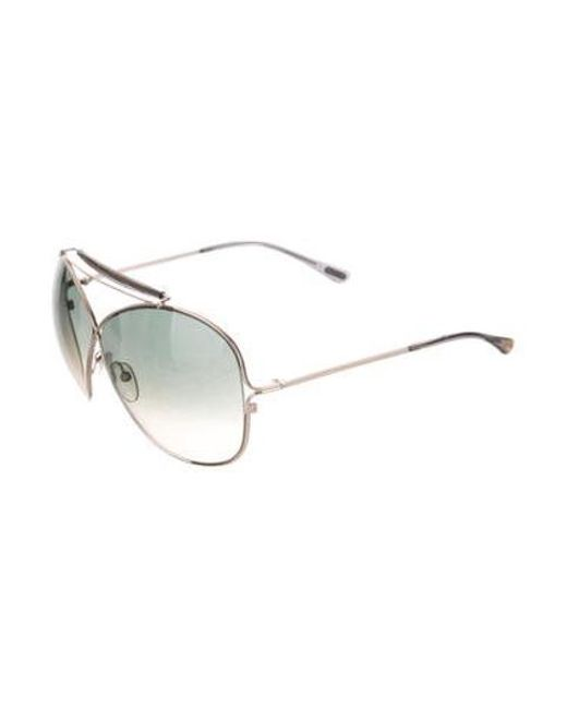 d6eaaef125e4 ... Tom Ford - Metallic Catherine Oversize Sunglasses Silver - Lyst ...