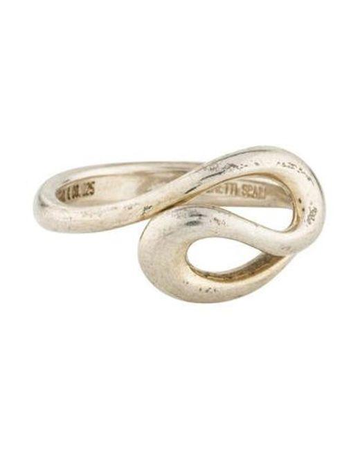 Tiffany & Co - Metallic Open Wave Ring Silver - Lyst