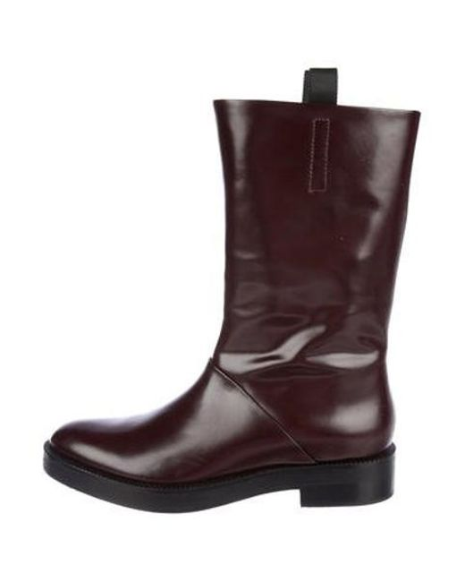 250433302dcf Alexander Wang - Black Patent Leather Mid-calf Boots - Lyst ...