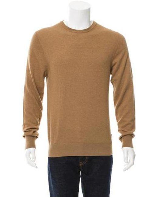 Moncler - Brown Virgin Crew Neck Sweater for Men - Lyst