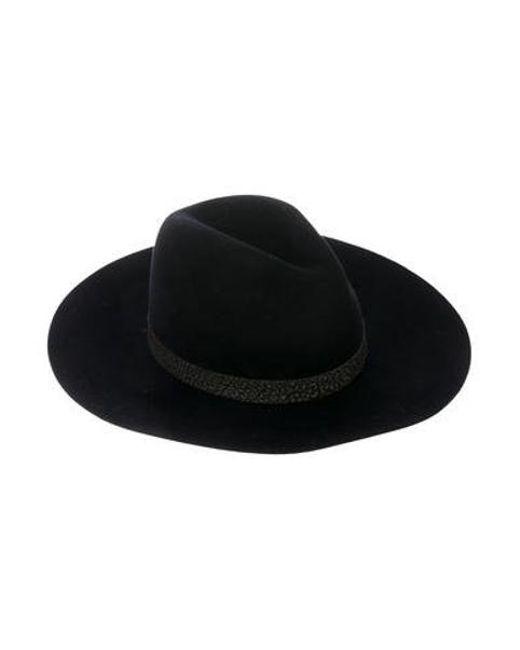 b3d0f715f35 Rag   Bone - Black Wool Leather-trimmed Hat - Lyst ...